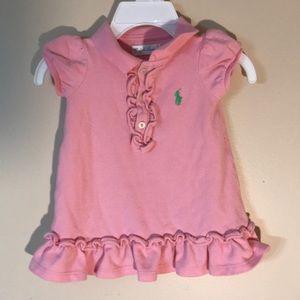 Girls 3-6 month Ralph Lauren dress pink READ ALL